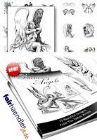 DOWNLOAD! Elfen und Engel Tattoos Fairies and Angels Tattoo Vorlagen eBOOK NEU