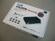 HDMI Powered Splitter for Full HD 1080P & 3D Support 1x8 8 Ports