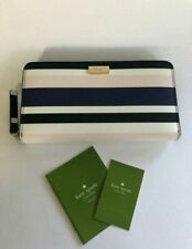 AUTHENTIC Kate Spade Laurel Way Printed Neda Cruise Stripe Leather Wallet