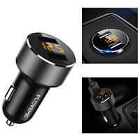 Dual USB Ports 5V/3.6A Car Charger Digital LED Adapter For iPhone Samsung Huawei