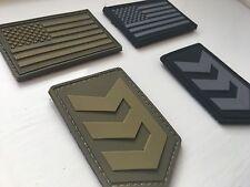 3V GEAR VINI VIDI VICI LOGO e bandiera USA Gancio e Passante distintivi Nero & OD VERDE-NUOVO