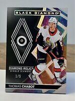 2020-21 UD Black Diamond Single Diamond Relics 1/5 Short Print Ottawa Senators