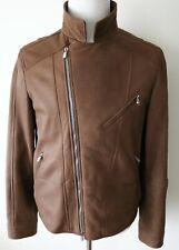 $6495 BRUNELLO CUCINELLI Leather Suede Shearling Fur Moto Jacket Small – Medium