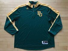 Baylor Bears NCAA Adidas 1/4 Zip Pullover Long Sleeve Shirt/Jacket Sz XXL Mens