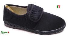 Pantofole ciabatte scarpe uomo strappo estive elastam italiane economiche nere
