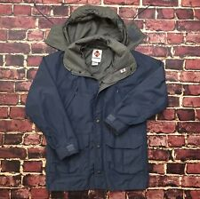 Vtg Columbia Gore-Tex Jacket Rain Coat Men Small Blue Full Zip Hooded Ski Snow