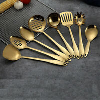 Gold Titanium Stainless Steel Cooking Tools Spoon Spatula Kitchen Cookware