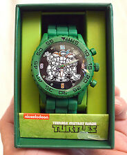Teenage Mutant Ninja Turtles Group Shot Green Rubber Strap Watch TMN9046