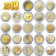 2 Euros Conmemorativos 2019 SIN CIRCULAR Todos los Países Disponibles