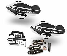 Powermadd Sentinel LED Handguards White / Black Mount Ski Doo Hayes Snowmobile