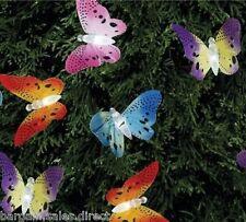 Solar Power 12 FIBRE OTTICHE farfalla string luci giardino festa