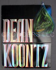 "1993 Dean Koontz Dragon Tears Cardboard Advertisement Promotional Display 14x18"""