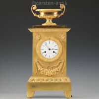 Detouche á Paris, Uhrmacher des Kaisers, spätklassizistische Bronze Pendule 1830