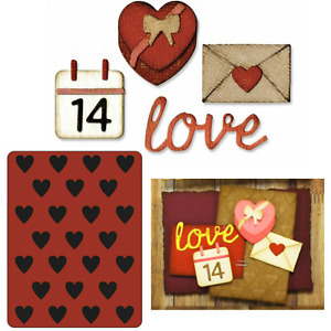 Valentine's Day Stamps, Dies & Hearts Embossing Folder - Love Letter, 14th