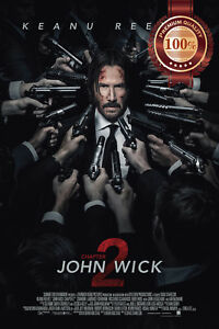 JOHN WICK CHAPTER 2 TWO OFFICIAL MOVIE ORIGINAL CINEMA PRINT PREMIUM POSTER