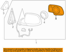 Gm Oem Door Rear Side View-Mirror Glass Right 88986363