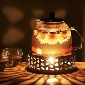 Stainless Steel Teapots Warmer Holder Flower Coffee Maker Heating Base Tea Pots