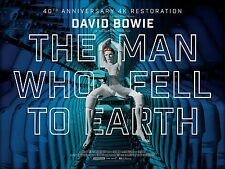 THE MAN WHO FELL TO EARTH  DAVID BOWIE LAMINATED MINI POSTER  STYLE 2
