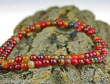 Achat Mala Rund Kugeln Halskette Schmuck Gebetskette Rosenkranz Nepal 35