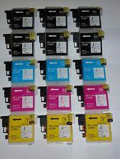 15 cartuchos COMPATIBLES para BROTHER DCP-J125  DCP-J140 W DCP-J315 W LC-985
