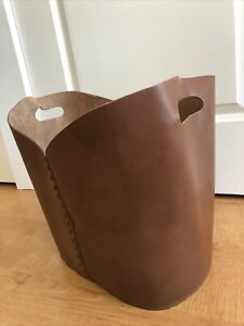 Threshold Studio Mcgee Brown Leather Decorative Basket Handles