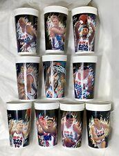 1992 McDonald's USA Basketball Dream Team Cups ~ Complete Set ~10 of 10~ JORDAN