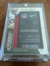 2014 Immaculate Carlos Hyde NFL Logo Patch SP RC 1/1 49ers