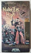 Class of Nuke 'Em High - TROMA VHS 1986 MEDIA Home Entertainment Video Casette