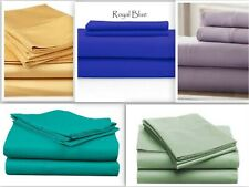 Persian Collection Flat Sheet 1800 Count Wrinkle Free Soft Solid Top Sheets New