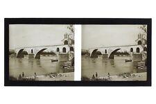 Avignon Pont Saint-Bénézet France Photo D3 Stereo Plaque de verre 1928