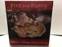Fitz & Floyd Classics Winter Holiday Santa Server In Original Box