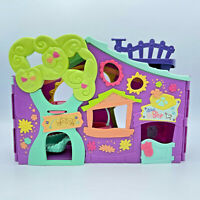Hasbro Littlest Pet Shop Clubhouse Play Set Purple 2007 LPS Folding Playset only