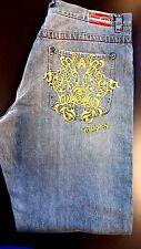~!L@@K!~Men's Authentic COOGI blue fade Denim Jeans,pants. 40 x 34.md.distressed