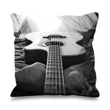 Guitare acoustique fausse soie 45 x 45 cm canapé coussin - guitariste cadeau cadeau