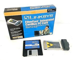 Linksys Etherfast Integrated CardBus PC Card 32 Bit PCMCIA Vintage PCM200 Ver 2