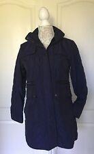 KRISTEN BLAKE~Purple Quilted Fleece-Lined Trench Coat Women's Size PETITE