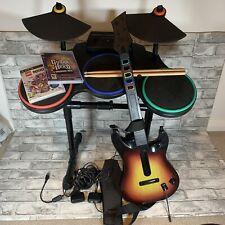 Guitar Hero Rock Band Bundle – Drums, Guitar, Microphone, pedal & Dongles PS3