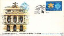 Chile 1988 FDC Centenario Pontificia Universidad Catolica de Chile