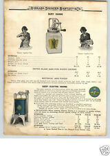 1922 PAPER AD Dazey Butter Churn Glass 4 6 8 Pint Size COLOR