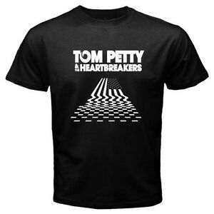 New TOM PETTY & THE HEARTBREAKERS Men's Black T-Shirt Size S to 3XL