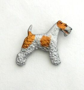 Dog Show Breed Brooch pin  - Wirehaired Fox Terrier
