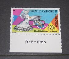 NEW CALEDONIA 1985 LE CAGOU STAMP CLUB SINGLE ISSUE WITH DATE TAB FRESH M/N/H