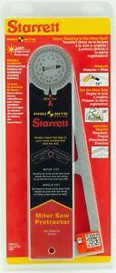 """Starrett 505A-12 Genuine Pro Site Miter Saw Protractor Aluminum 12"""" Made in USA"""