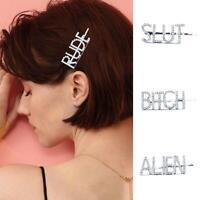 Mode Brief Wort Strass Kristall Haarnadel Haarspangen Haarspangen Zubehör G2I8