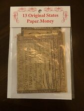 13 Original States Paper Currency