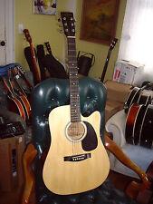 Carlo Robelli SKV-CF25C Acoustic Cutaway Steel String Guitar, Natural