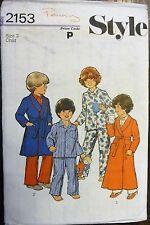 STYLE Sewing Pattern No. 2153 CHILDREN'S NIGHTWEAR size 3  VINTAGE