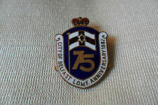 Rare City of Belfast L.O.W.F 75th anniv. '82 enamel pin lapel badge,free u.k.p&p