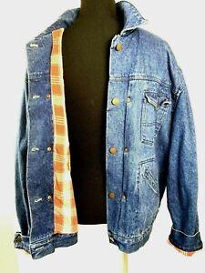 BASS Flannel Lined Denim Jean Jacket Mens L