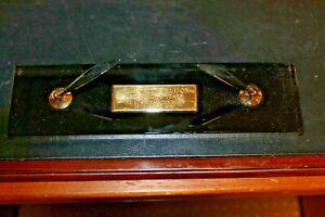 Large Desk Top Cross Vintage Onyx Double Pen Desk Set  with plate